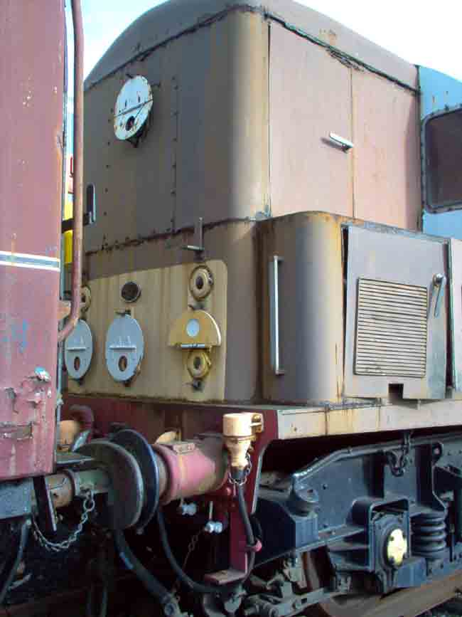D8233s cab showing corrosion