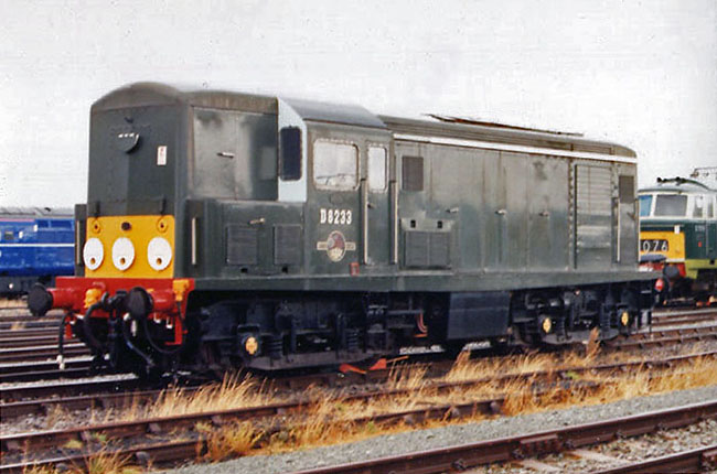 D8233 at Crewe Works Open Day 1988