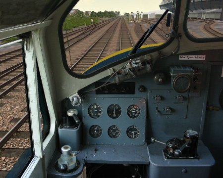 Deltic cab shot